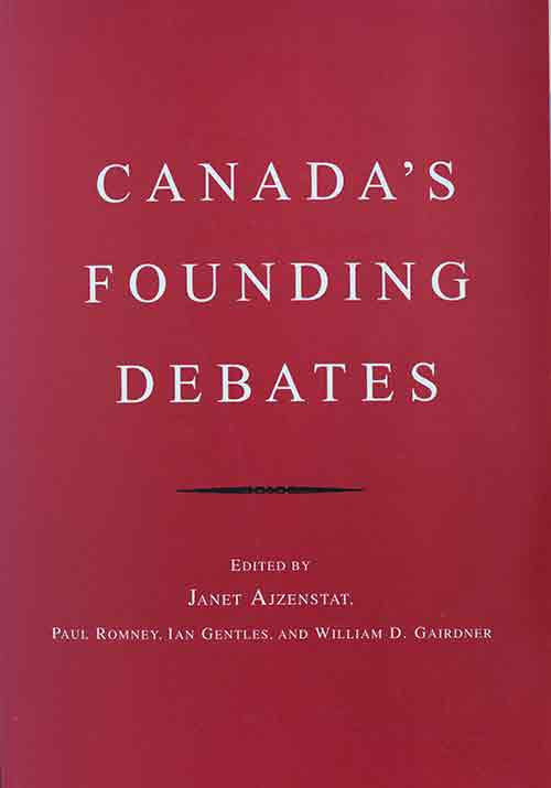Canada's Founding Debates book cover